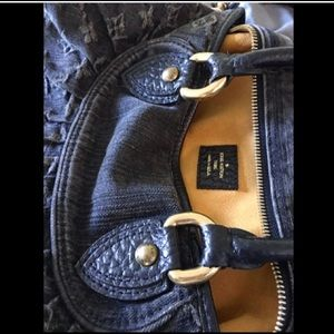 Louis Vuitton Black Monogram Denim Cabby